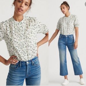 Lucky Brand Dakota Floral Ruffle Sleeve Top